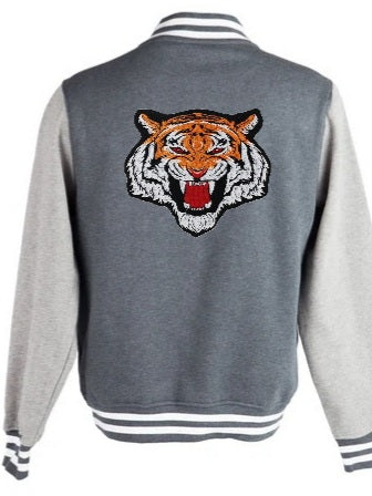 Varsity Jacket Tiger (Dark grey- Light grey)