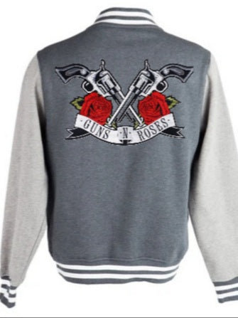 Varsity Jacket Guns n' Roses (Dark grey- Light grey)