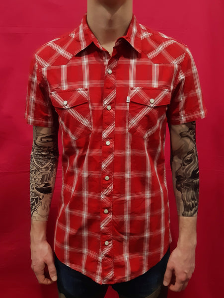 Vintage Camicia Levi's English Style Tg. M Red