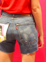 Vintage Shorts Levi's tg. W26 Bowie Strappi tasche