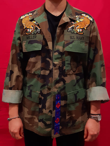 Original Army Jacket Customized Camouflage Tigers