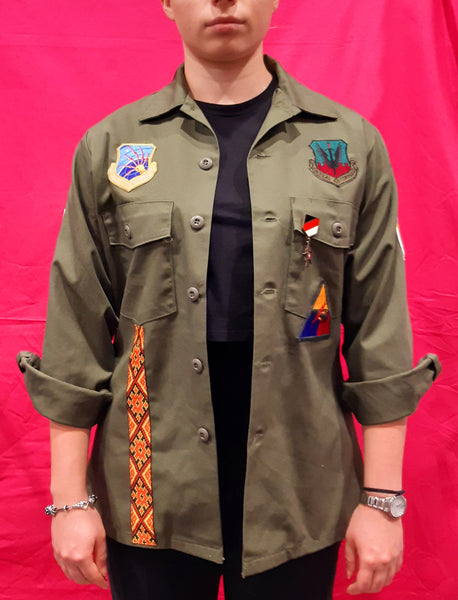 Original Army Jacket Customized with Pin