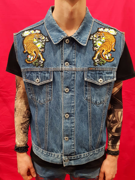 Vintage Energy Custom Denim Gilet Uomo