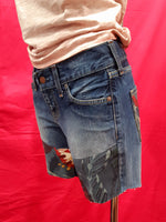 Vintage Shorts Levi's 557 tg. W27 L32 Green, Red Flower