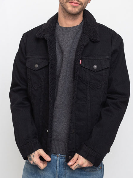 Levi's Sherpa Trucker Jacket Black