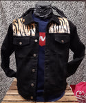 Denim Jacket Custom Black Tiger