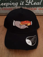 Baseball Ripped Cap with Hand and Snake