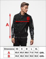 Varsity Jacket Dragon (Black- Sky Black)