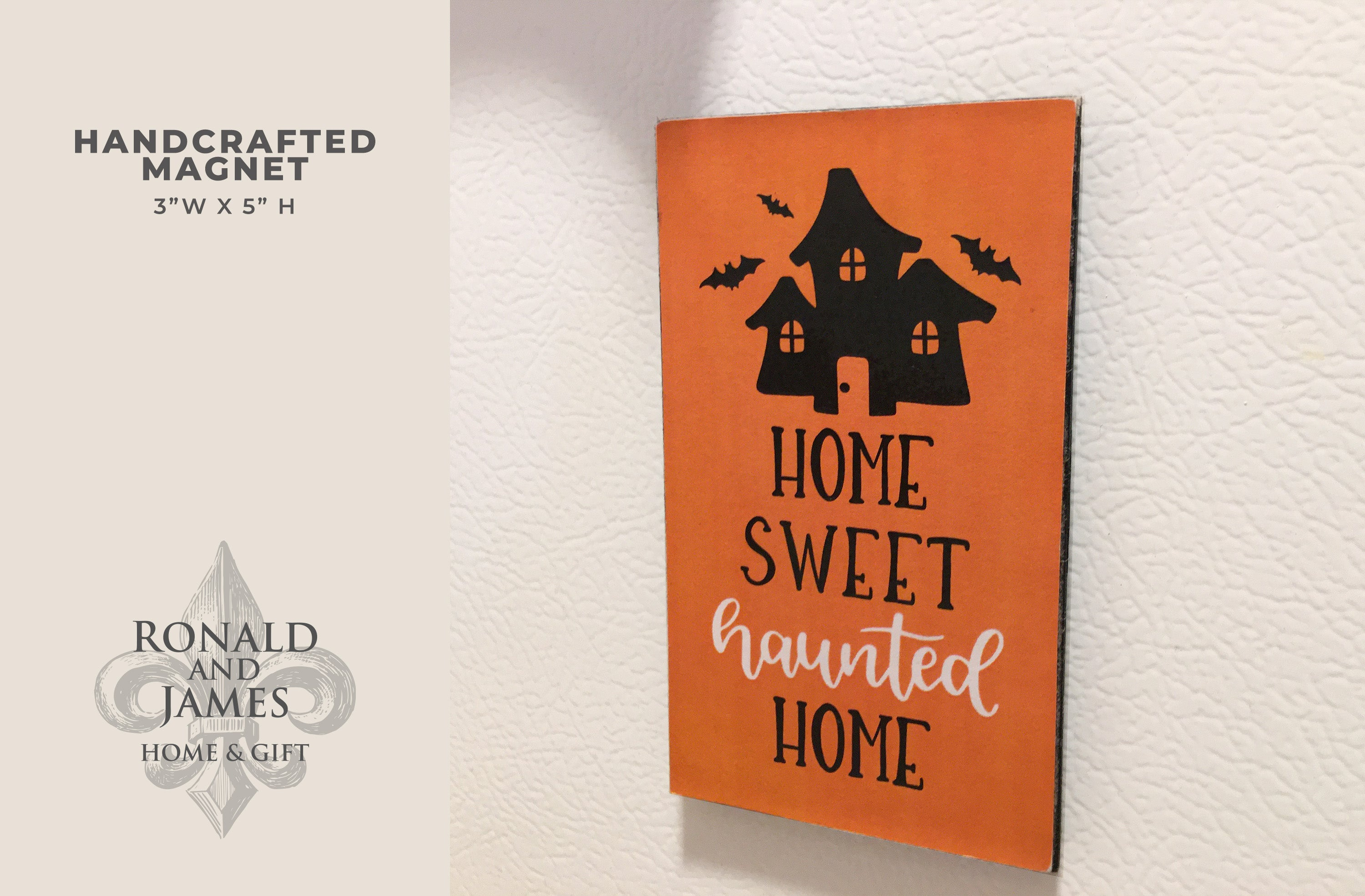 Handcrafted Magnet - Haunted Home