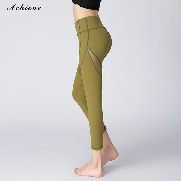 AchieveFashion Women's Yoga High Waist Full-Length Legging