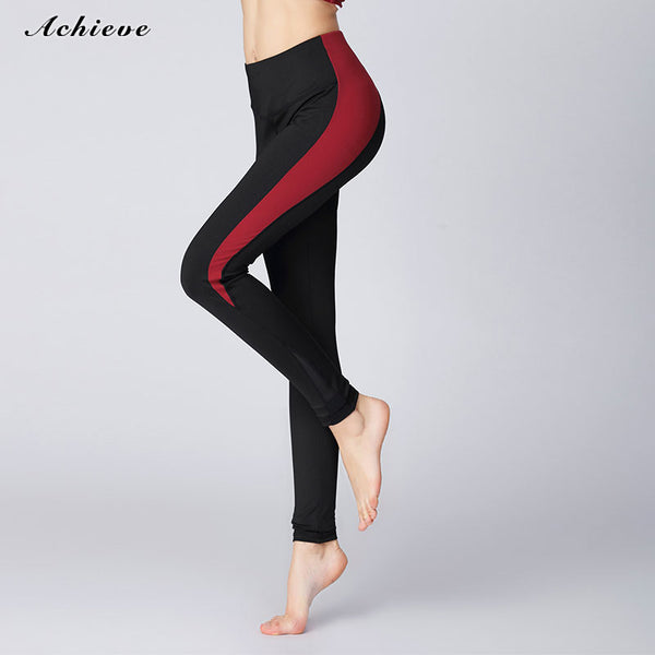 AchieveFashion Yoga Pants Power Stretch Workout Leggings with High Waist Tummy Control