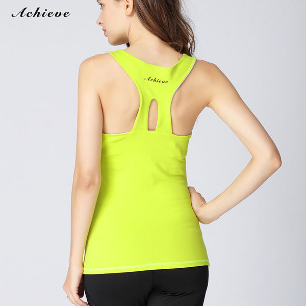 AchieveFashion Womens Padded Camisole Built-in Bra Yoga Tanks Tops Sleeveless Racerback Sports Shirts Gym Workout Exercise