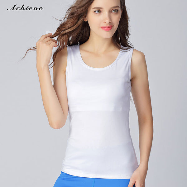 Achiefashion Yoga Active Tank, Simple Flattering Sports Top