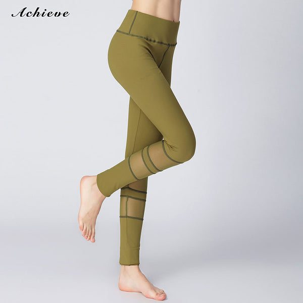 AchieveFashion Yoga Pants for Women Capri Tummy Control High Waist