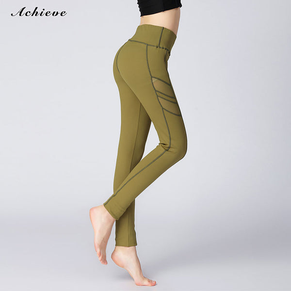 AchieveFashion Women Power Stretch Leggings Yoga Pants Running Tights