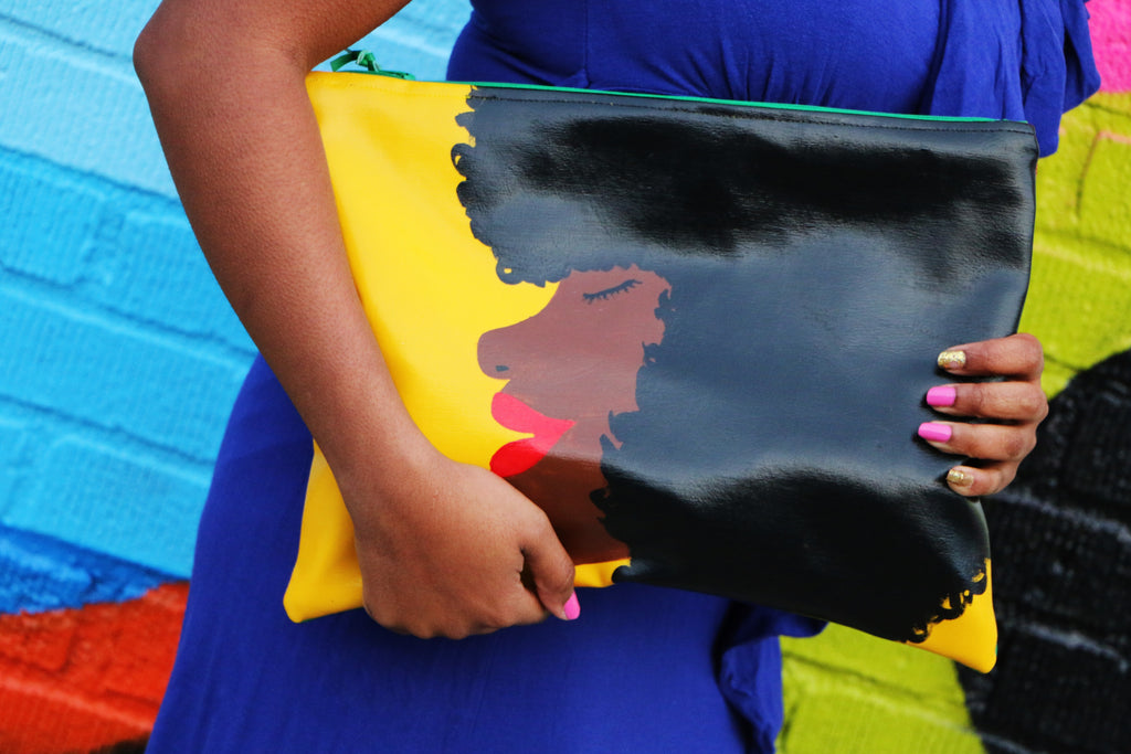 Foxy Brown Angela Davis Afro Clutch