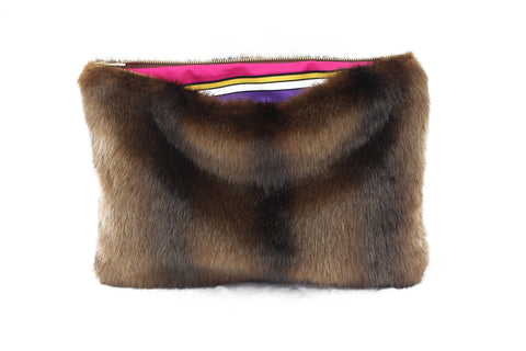 Labelle Purple Fur Bag