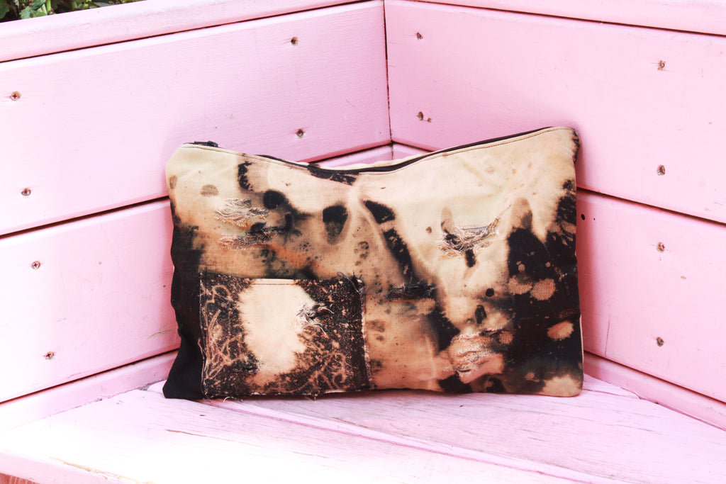Distressed Denim Day Clutch
