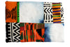 Afrocentric Denim Kente Afeni Clutch