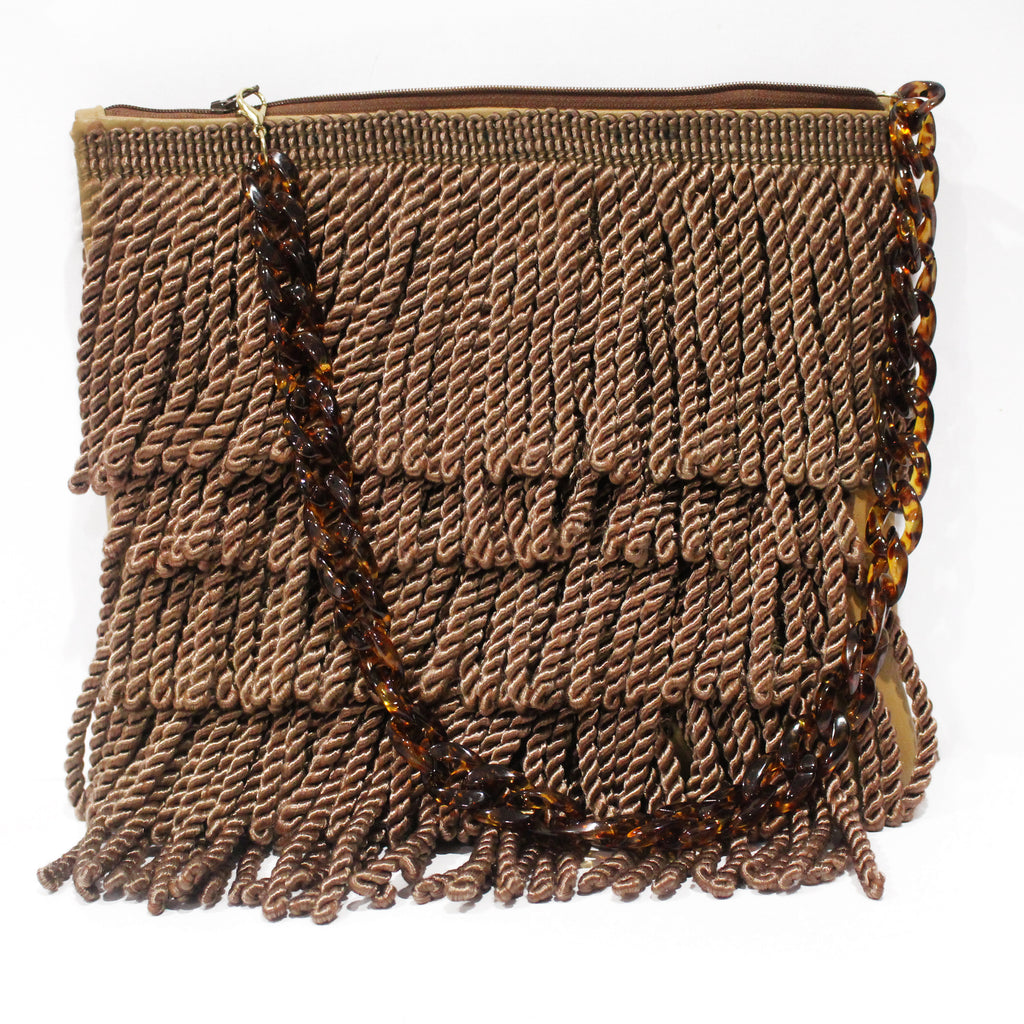 "Eartha Kitt ""Bullion Fringe Clutch"""