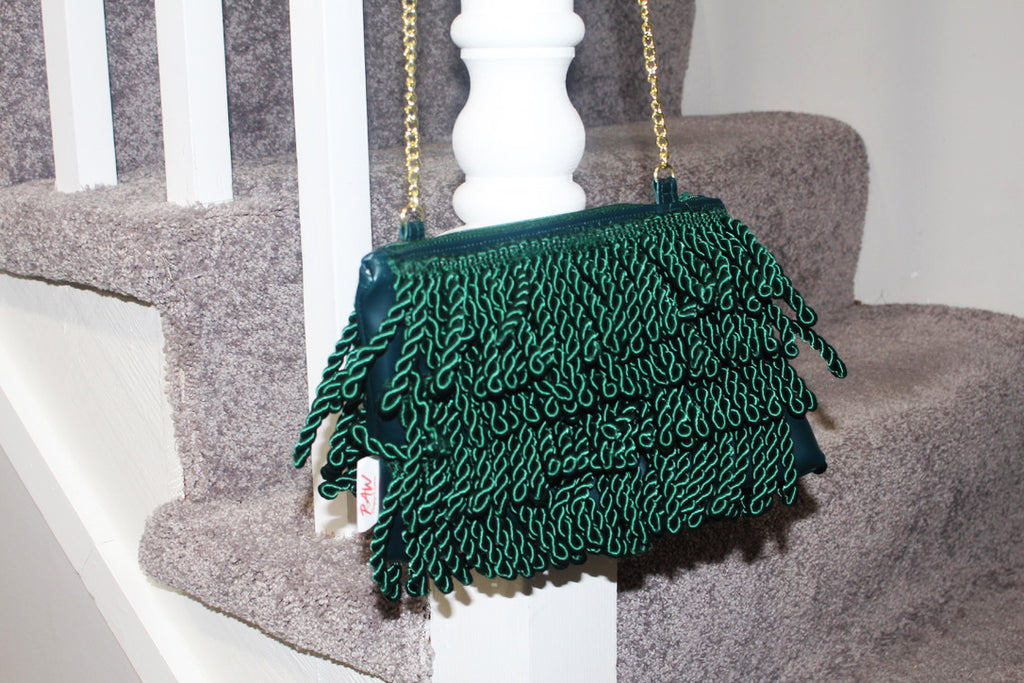 Eartha Kitt Mini Bullion Fringe Bag