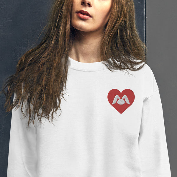 Simple Heart Bonny Embroidered Unisex Sweatshirt