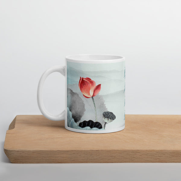 "Chinese Painting ""Lotus Flower and Sky"" Mug"