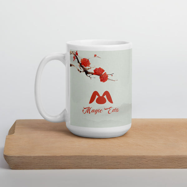 "Chinese Painting ""Flower and Umbrella"" Mug"