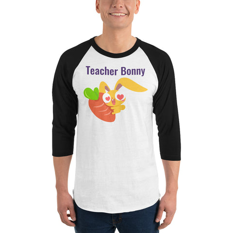 """Bonny Loves Carrots"" Raglan Shirt (Personalized)"