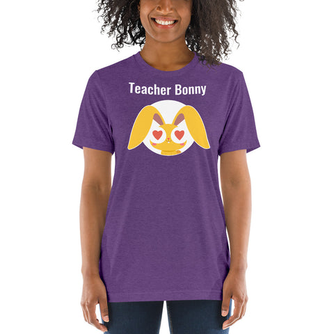 Heart-Eyed Bonny Teacher Shirt (Personalized)