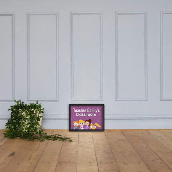 Bonny & Friends Classroom Sign (Personalized)