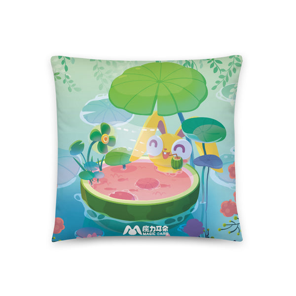 Summertime in the Pond Pillow