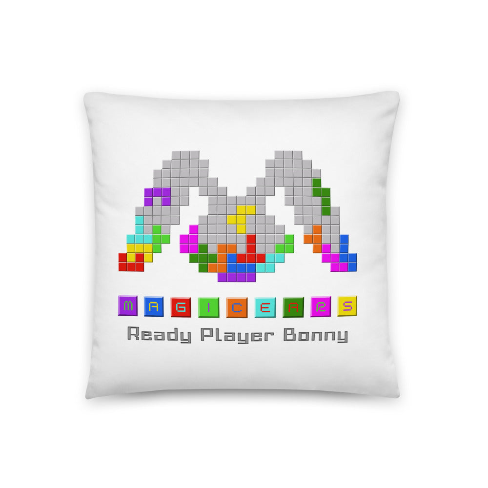 """Ready Player Bonny"" Pillow (White)"