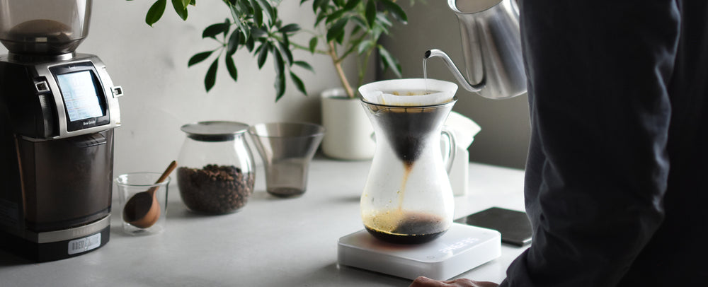 INTRODUCTION TO POUR OVER COFFEE - COTTON PAPER FILTER - BANNER