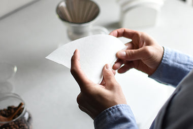 Holding paper filter