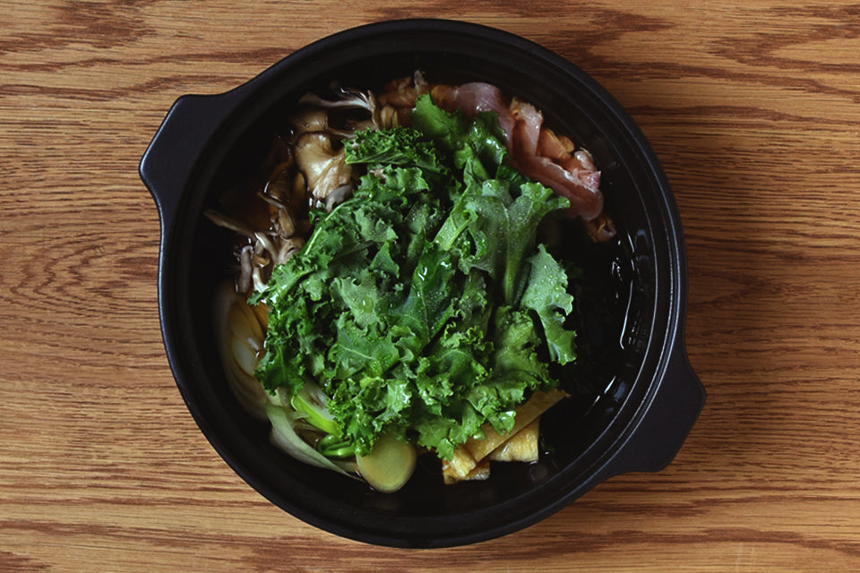 Kale hot pot in KAKOMI IH donabe black