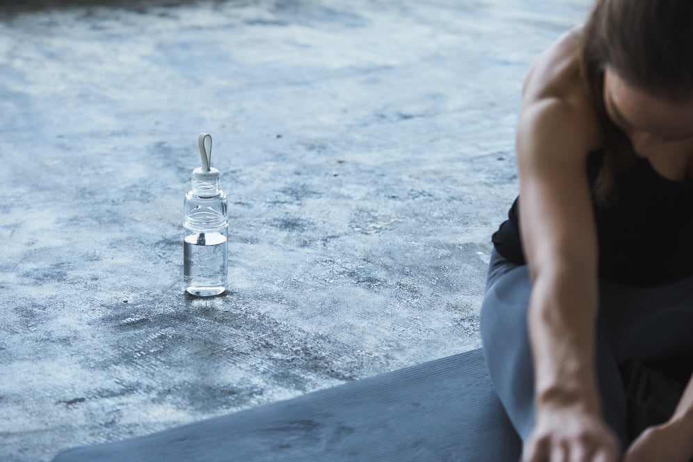 Clear WORKOUT bottle