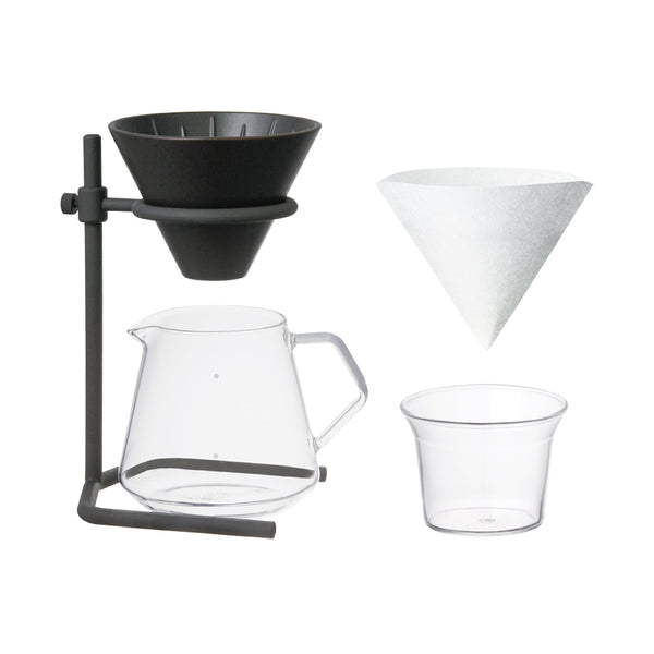 KINTO SCS-S04 BREWER STAND SET 4CUPS BLACK-NO-COLOR