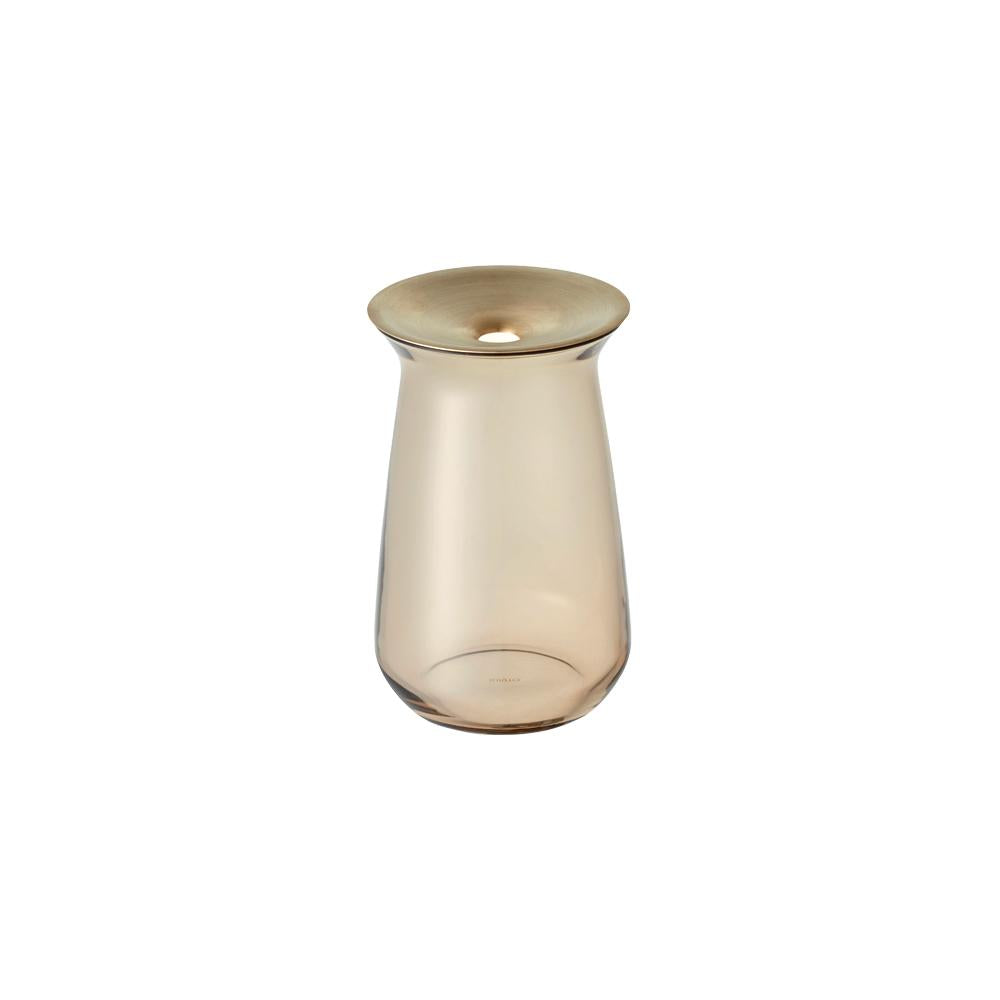 KINTO LUNA VASE 80X130MM  BROWN