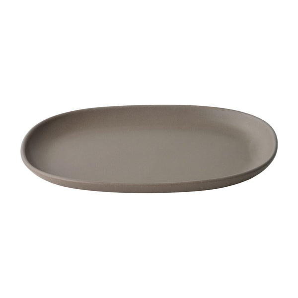 KINTO NEST RECTANGLE PLATE 315MM BROWN
