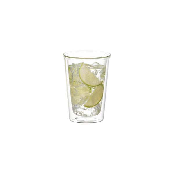 KINTO CAST DOUBLE WALL COCKTAIL GLASS CLEAR