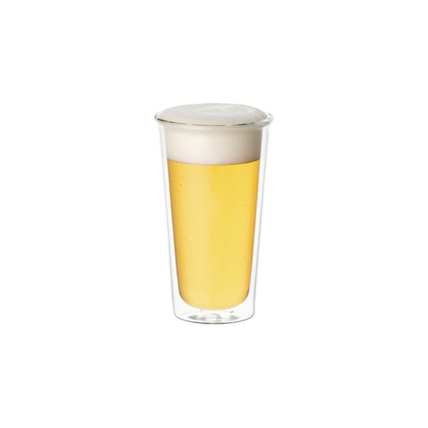 KINTO CAST DOUBLE WALL BEER GLASS CLEAR