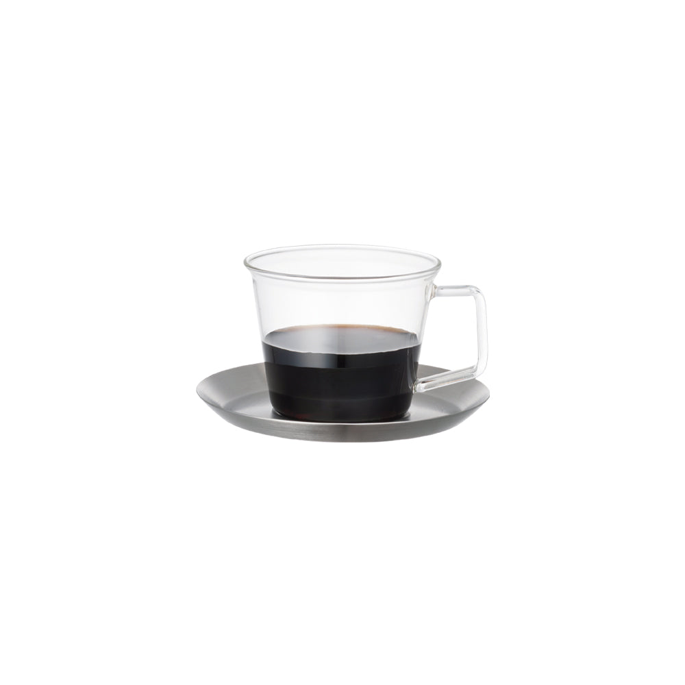 KINTO CAST COFFEE CUP & SAUCER  STAINLESS STEEL