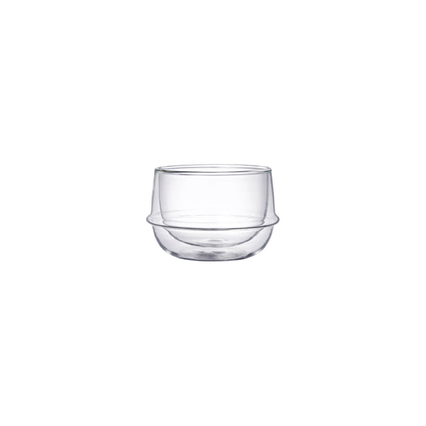 KINTO KRONOS DOUBLE WALL TEA CUP CLEAR