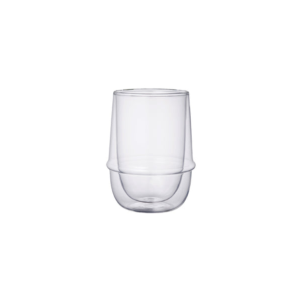 KINTO KRONOS DOUBLE WALL ICED TEA GLASS CLEAR