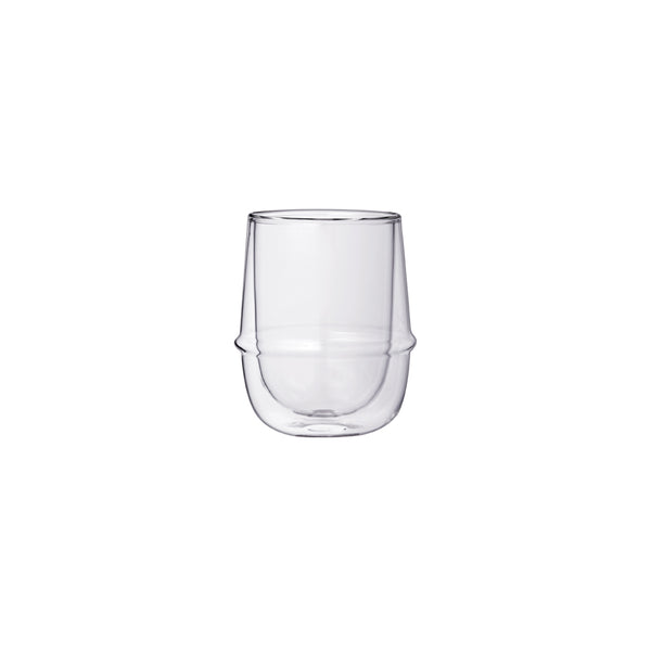 KINTO KRONOS DOUBLE WALL COFFEE CUP CLEAR