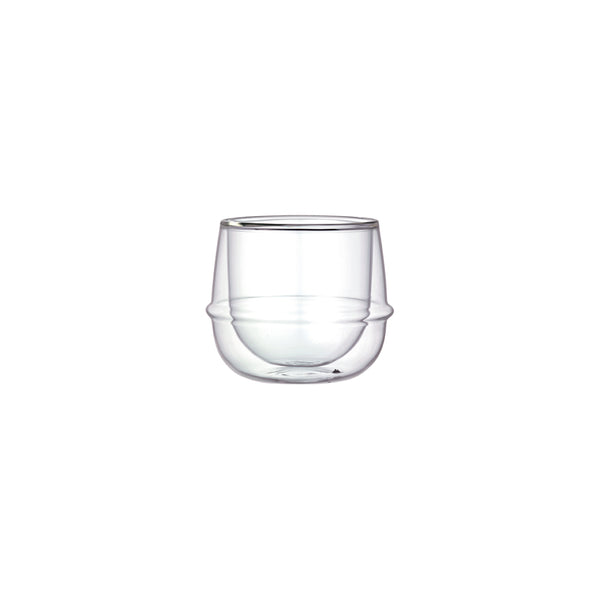 KINTO KRONOS DOUBLE WALL WINE GLASS CLEAR