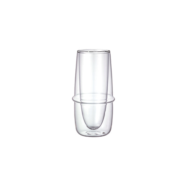 KINTO KRONOS DOUBLE WALL CHAMPAGNE GLASS CLEAR