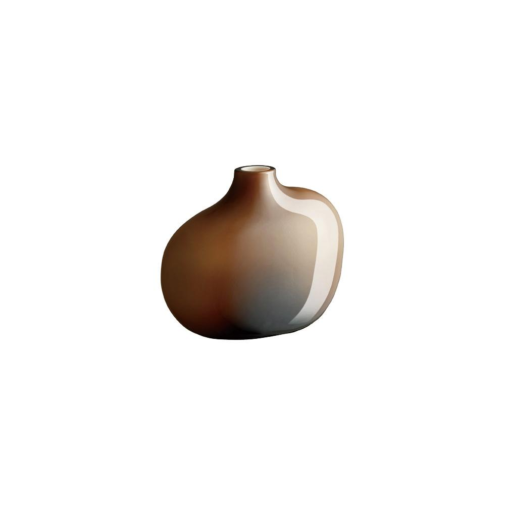 KINTO SACCO VASE GLASS 01  BROWN