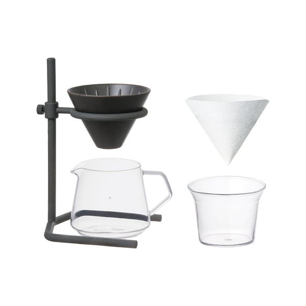 KINTO SCS-S04 BREWER STAND SET 2CUPS BLACK-NO-COLOR